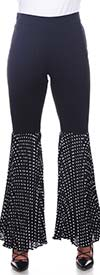 Love The Queen 17260 Womens Half Chiffon Pants With Polka Dot Print