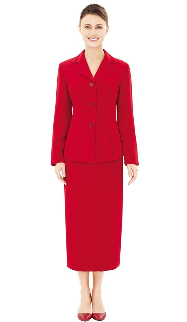 Nina Massini 1313 Ladies Simple Church Suit With Short Notch Lapels