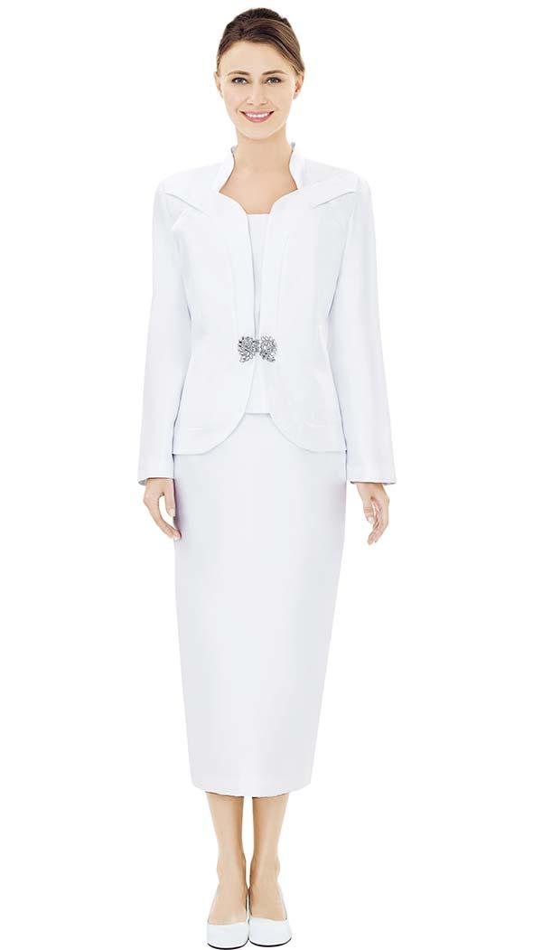 Nina Massini 2493 Star Neckline Design Jacket & Skirt Set