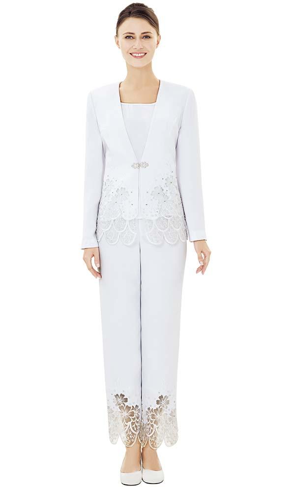 Nina Massini 2518 Lace Trimmed Wardrober Jacket / Pants & Skirt Set