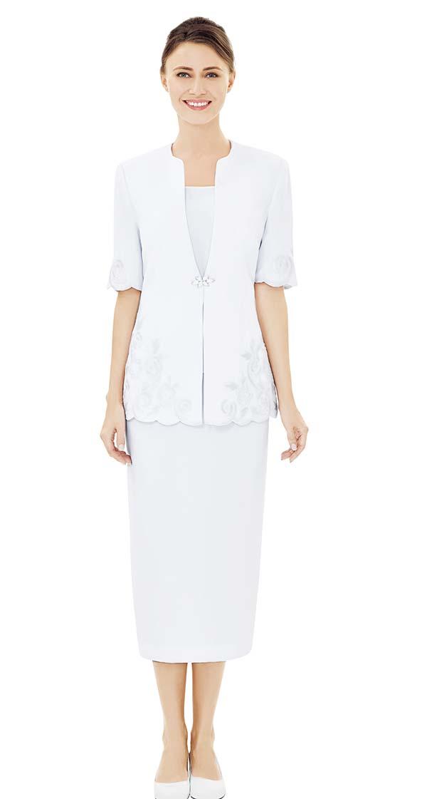 Nina Massini 2520 Half Sleeve Design Jacket & Skirt Set