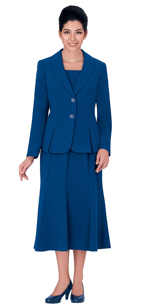 Nina Massini 1366S Three Piece Womens Church Suit With Shawl Lapels
