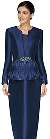 Nina Massini 3010 Three Piece Skirt Suit With Embellished Jacket