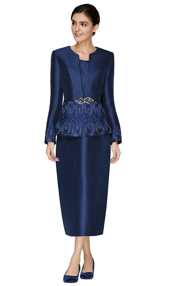 Nina Massini 3010 Three Piece Skirt Suit With Embellished Jacket