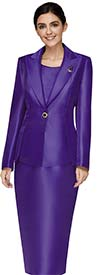 Nina Massini 3014 Peak Lapel Basic Jacket & Skirt Suit