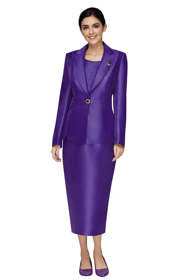 Nina Massini 3014 Peak Lapel Basic Jacket & Skirt Suit