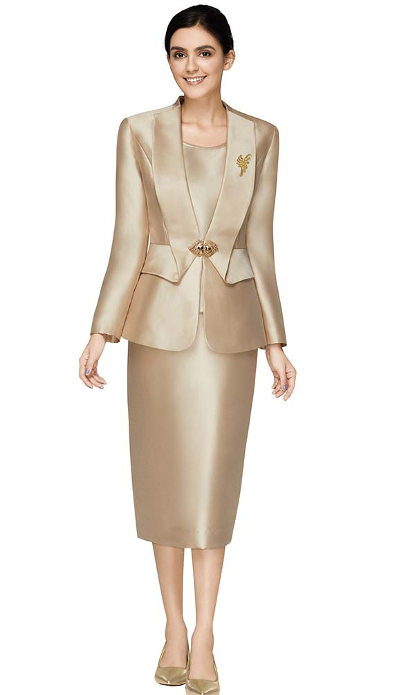 Nina Massini 3015 Womens Church Suit With Extended Lapel Jacket