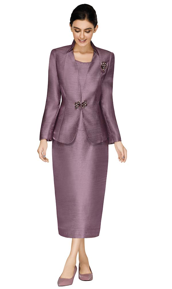 Nina Massini 3017 Ladies Church Suit With Stand Up Collar Jacket
