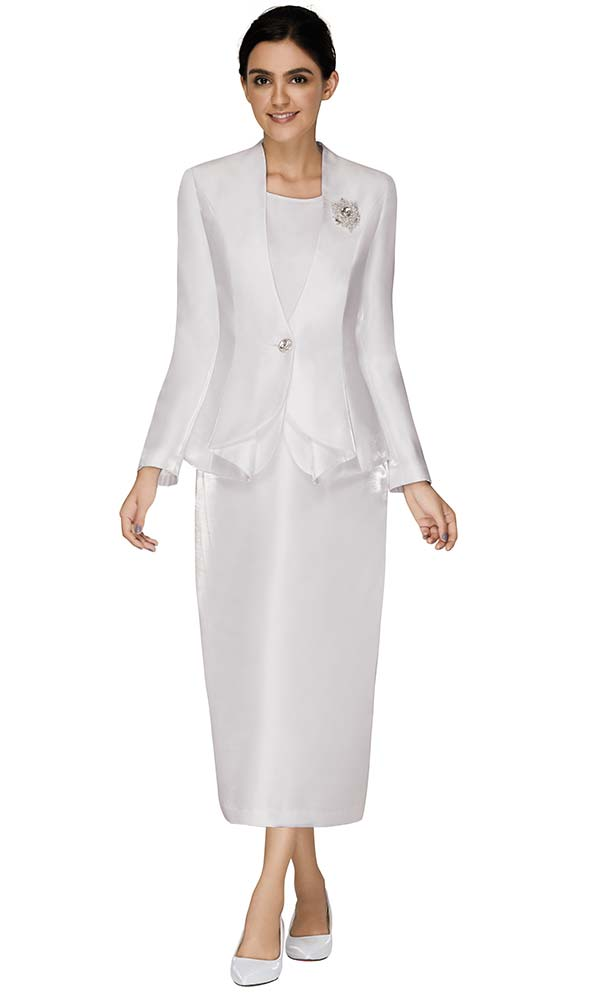 Nina Massini 3018 Ladies Church Suit With Brooch