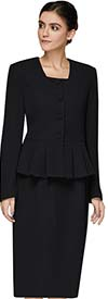 Nina Massini 3302 Skirt Suit With Peplum Jacket