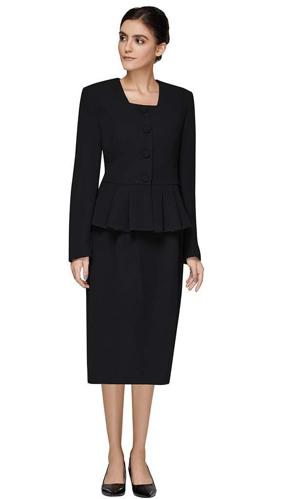 Nina Massini 3302 Skirt Suit With Peplum Jacket