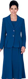 Nina Massini 1366S Three Piece Womens Church Suit With Shawl Lapels
