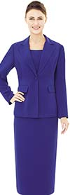 Nina Massini 2542 Three Piece Womens Church Suit With Notch Lapels