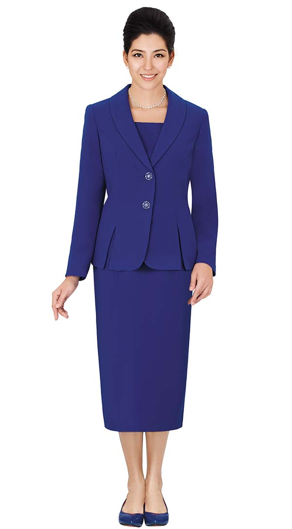 Clearance Nina Massini 1366S Three Piece Womens Church Suit With Shawl Lapels