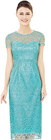 Nina Nischelle 2846 Short Sleeve Basic Lace Dress