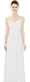 Nina Nischelle 2856 Vee Neckline Sleeveless Dress In Lace & Chiffon Fabric