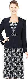 Nina Nischelle 2863 Lace & Microfiber Dress & Jacket Set