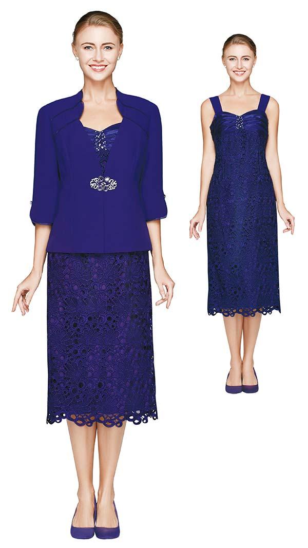 Nina Nischelle 2641 Lace Dress With Microfiber Jacket