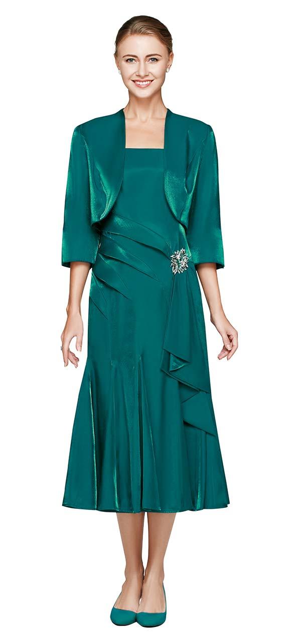 Nina Nischelle 2680 Godet Pleated Dress & Bolero Jacket Set