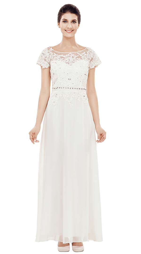 Nina Nischelle 2827 Long Lace & Chiffon Dress