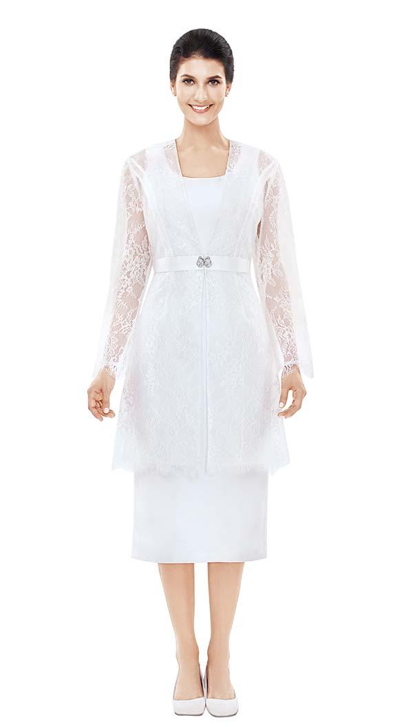Nina Nischelle 2835 Lace & Silky Twill Dress With Jacket Set