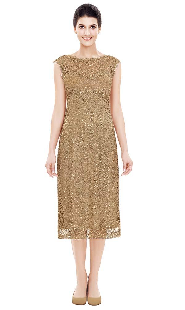 Nina Nischelle 2841 Lace Cap Sleeve Dress