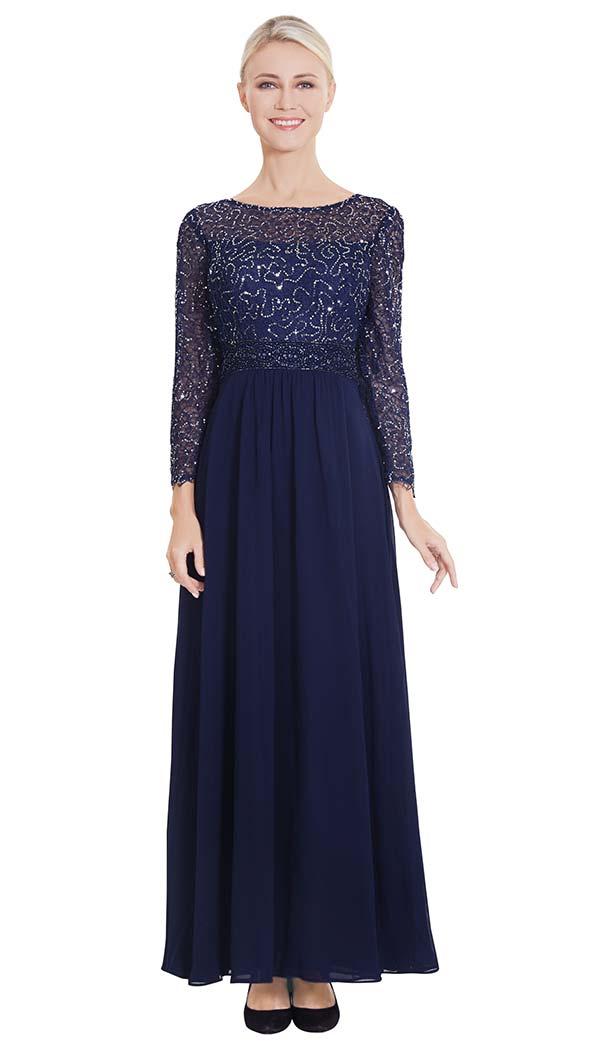 Nina Nischelle 2868 Pleated Dress With Embellished Bodice