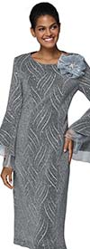 Nina Nischelle 2915 - Split Bell Sleeve Dress With Organza Details