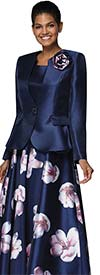 Nina Nischelle 2930 - Silky Twill Sleeveless Dress With Flower Pattern And Solid Jacket