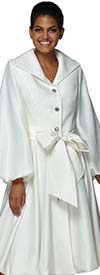 Nina Nischelle 2936 - Double Satin Bishop Sleeve Dress With Bow Sash