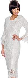 Nubiano Dresses DN3201 Ladies Lace Dress With Serrated Edge Design