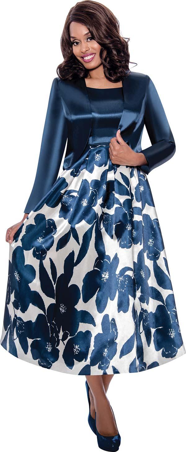 Nubiano Dresses DN1942 - Floral Print Dress With Bolero Style Jacket