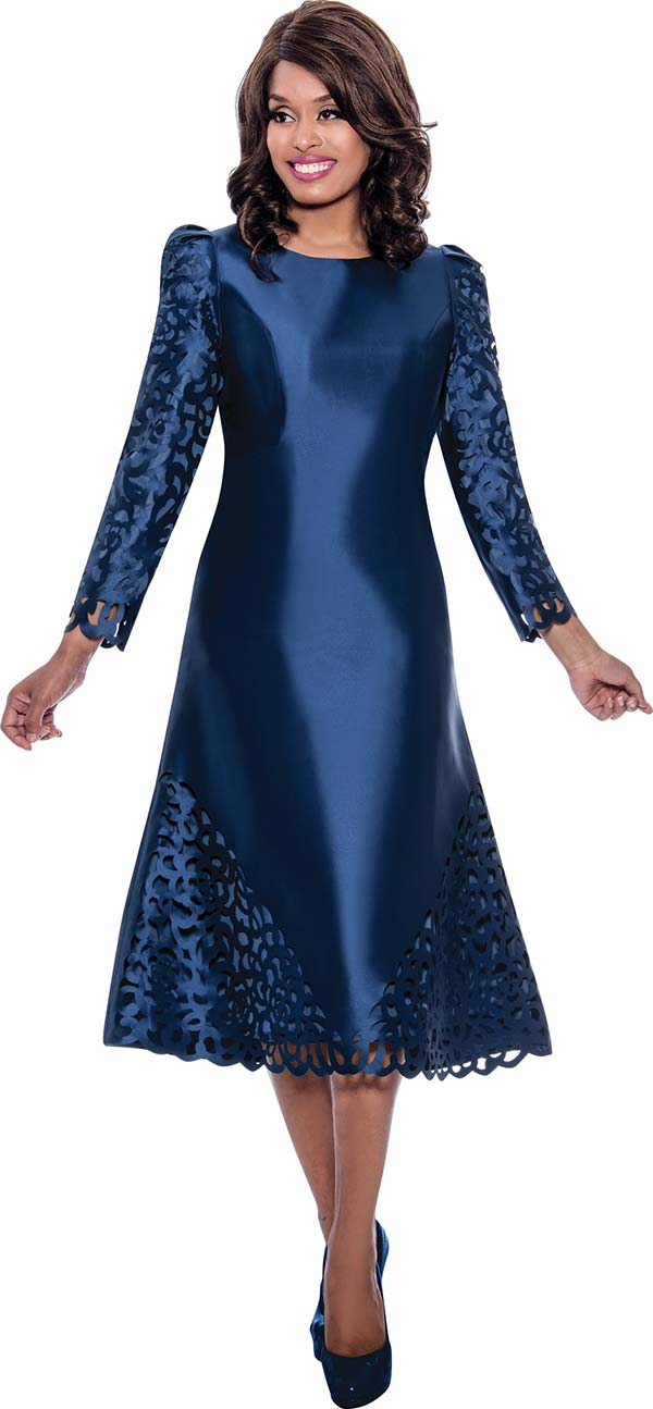 Nubiano Dresses DN2191 - Cut-Out Design A-Line Dress With Bracelet Length Sleeves