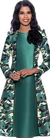 Nubiano Dresses DN1561 -  Pointed Shoulder Design Dress In Camouflage Print