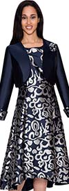 Nubiano Dresses DN4322 Womens Printed Dress With Jacket