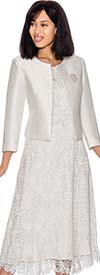Nubiano Dresses DN2872 - Lace Capsleeve Dress With Solid Bolero Style Jacket