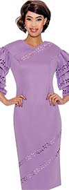 Nubiano Dresses DN2961 - Cut Out Design Dress With Triple Tiered Sleeves