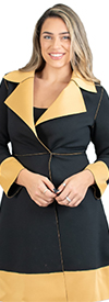 JER-SR7021 - Womens Long Sleeve Two-tone Jacket