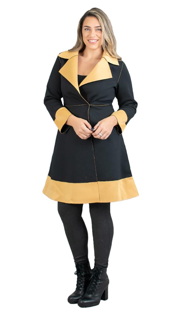 JER-SR7021 - Womens Long Sleeve Two-tone Jacket