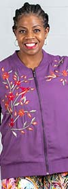DG2 2200 - Womens Floral Embroidered Design Jacket
