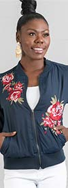 DG2 2202 - Ladies Floral Embroidered Design Jacket