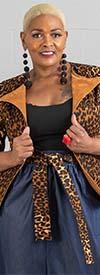KaraChic 9031 - Womens Reversible Animal Print Jacket