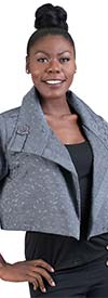 Moonlight 7530 - Womens Short Jacket With Wide Lapels