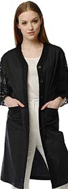 Way By J Song 1798 - Womens Lace Sleeve Kimono Style Jacket