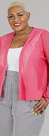 Joan Vass JC516W - Womens Dolman Sleeve Cardigan In Fine Gauge Knit Fabric