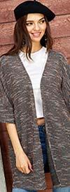 Velzera VLRD1560 - Womens Kimono Style Cardigan