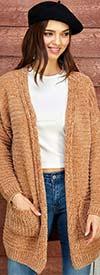 Velzera VLSW040 Womens Knit Cardigan With Pockets