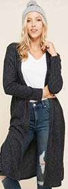 Vision Apparel T3265 - Womens Long Sleeve Knit Duster