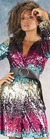For Her 81635 - Confetti Sequin Design Womens Jacket Top