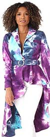 For Her 81815 - Womens High-Low Print Design Jacket